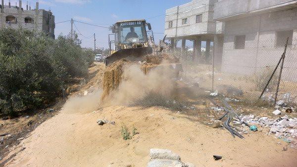 بلدية رفح تنهي المرحلة الثانية من توسيع شارع