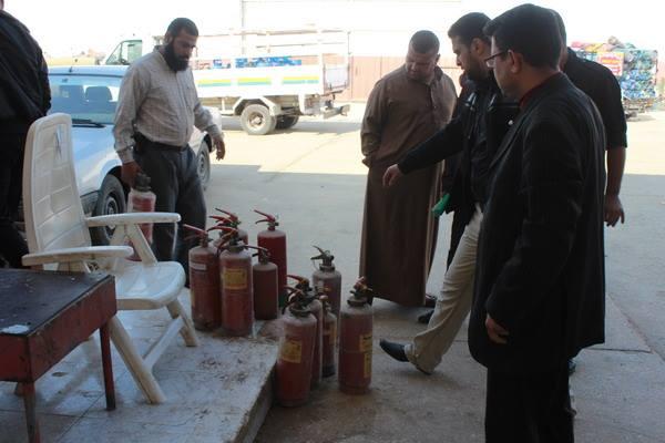 لجنة الأمن والسلامة برفح تنظم حملة تفتيش لعدة مواقع