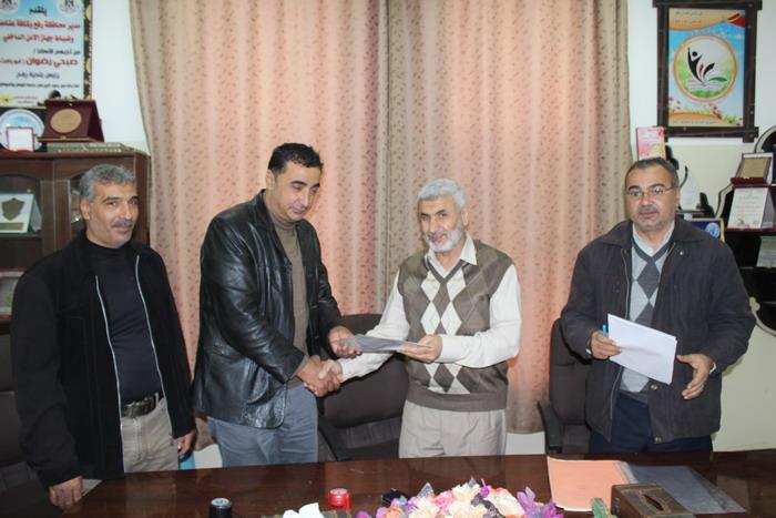 بلدية رفح توقع اتفاق لصيانة مبنى البلدية