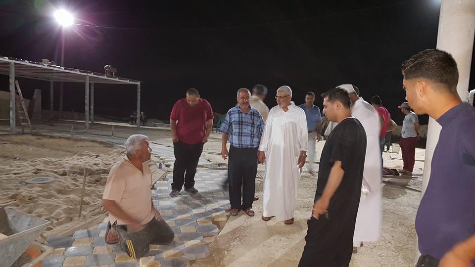 متابعة السيد رئيس البلدية أ.صبحي ابو رضوان للعمل في منتزه بلدية رفح البحري