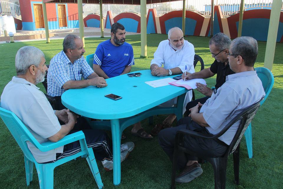التحضير لحفل افتتاح منتزه البلدية