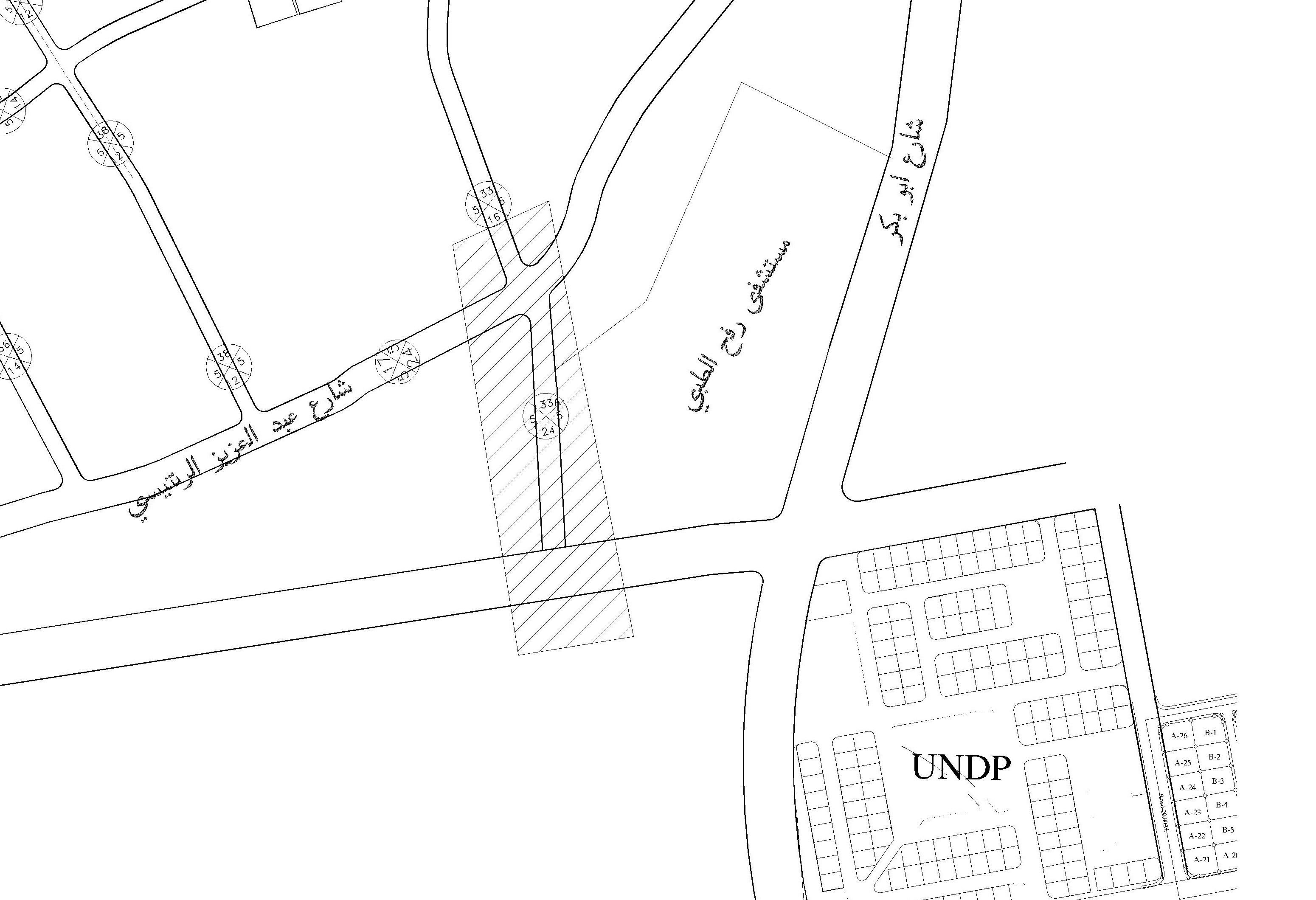 إعلان بالمصادقة على المخطط التفصيلي للشارع رقم (A33)